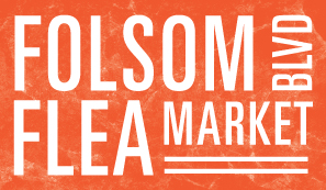 orange Folsom Boulevard Flea Market logo